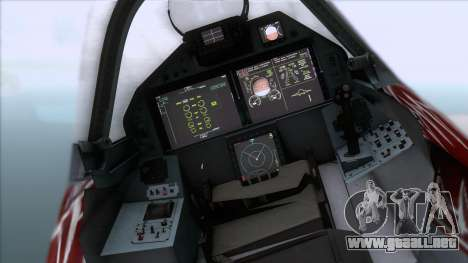 Sukhoi T-50 PAK FA Akula with Trinity para la visión correcta GTA San Andreas