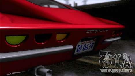 GTA 5 Invetero Coquette Classic HT para GTA San Andreas vista hacia atrás