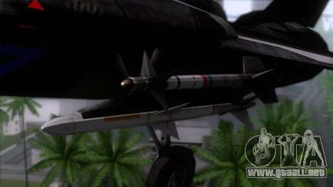F-14 Neon Blue Macross Frontier para GTA San Andreas vista hacia atrás