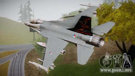 F-16 Fighting Falcon 60th Anniv. of Volkel AFB para GTA San Andreas left