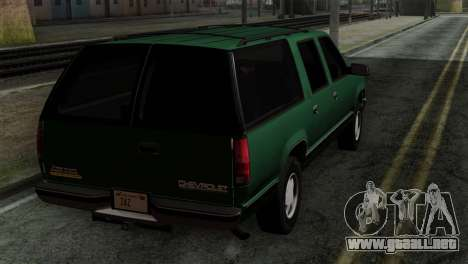 Chevrolet Suburban GMT400 1998 para GTA San Andreas left