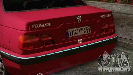 Peugeot Pars para la visión correcta GTA San Andreas