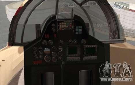 Savage GTA 5 v1.2 para GTA San Andreas vista hacia atrás