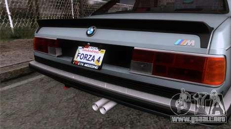 BMW M635 CSi 1984 Stock para GTA San Andreas vista hacia atrás