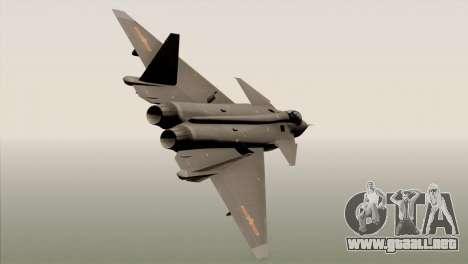 MIG 1.44 China Air Force para GTA San Andreas left