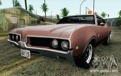 Oldsmobile 442 Holiday Coupe 1969 HQLM para GTA San Andreas