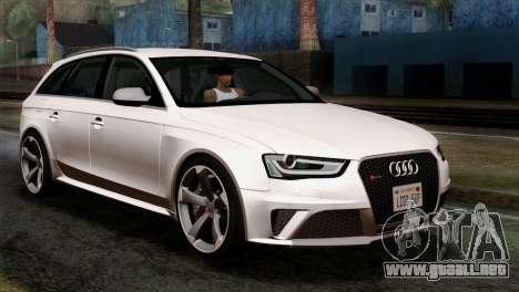 Audi RS4 Avant B8 2013 v3.0 para GTA San Andreas
