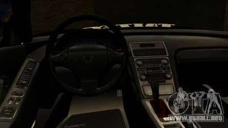 Honda NSX Street Killer para la visión correcta GTA San Andreas