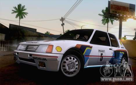 Peugeot 205 Turbo 16 1984 [IVF] para la vista superior GTA San Andreas