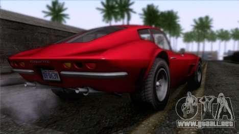 GTA 5 Invetero Coquette Classic HT para GTA San Andreas left