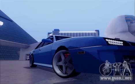 STI Sultan para GTA San Andreas vista hacia atrás