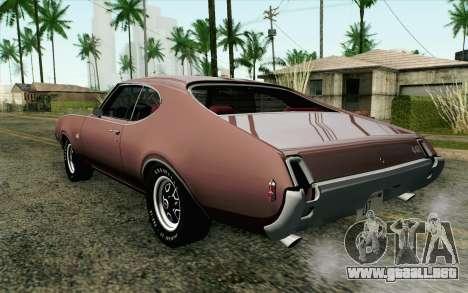 Oldsmobile 442 Holiday Coupe 1969 HQLM para GTA San Andreas left