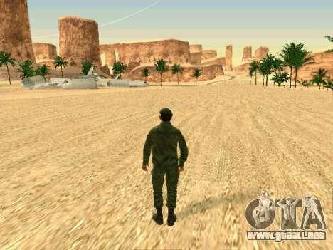 El ejército ruso está en una nueva forma para GTA San Andreas décimo de pantalla
