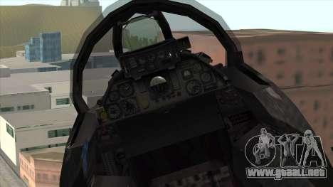 F-14 Neon Blue Macross Frontier para la visión correcta GTA San Andreas