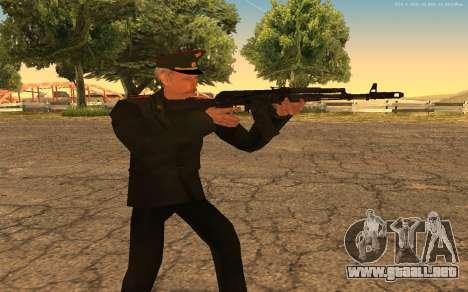 El coronel del ejército ruso para GTA San Andreas quinta pantalla