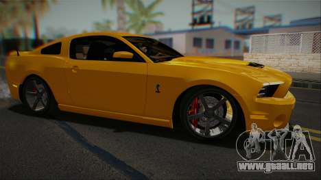 Ford Shelby GT500 2013 Vossen version para GTA San Andreas left