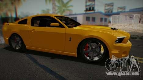 Ford Shelby GT500 2013 Vossen version para GTA San Andreas left