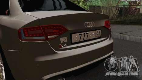 Audi S4 Sedan 2010 para GTA San Andreas vista hacia atrás
