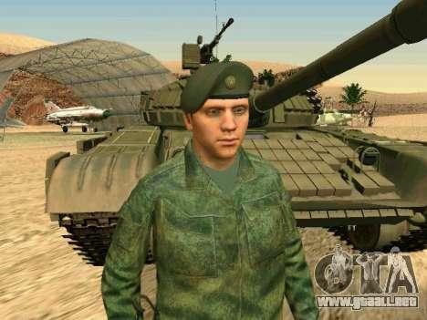 El ejército ruso está en una nueva forma para GTA San Andreas novena de pantalla