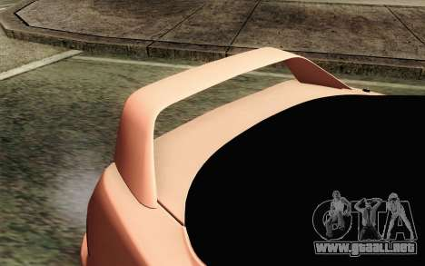 Acura Integra Type R 2001 JDM para GTA San Andreas vista hacia atrás