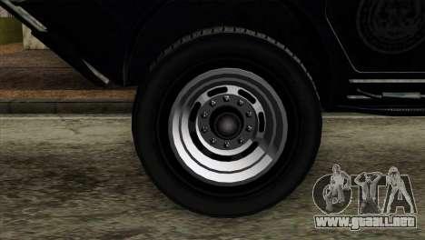 GTA 4 TBoGT Swatvan v2 para GTA San Andreas vista posterior izquierda