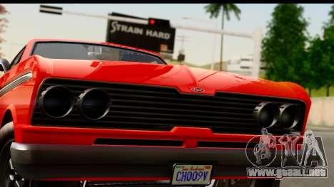 GTA 5 Vapid Blade v2 para GTA San Andreas vista posterior izquierda