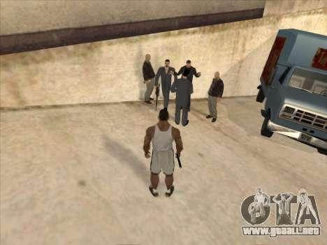 A los Rusos en el distrito Comercial para GTA San Andreas segunda pantalla