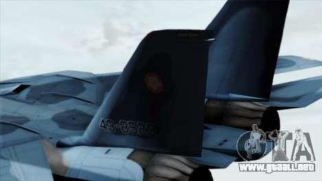 F-14 Japan Air Self Defense Force para GTA San Andreas vista posterior izquierda