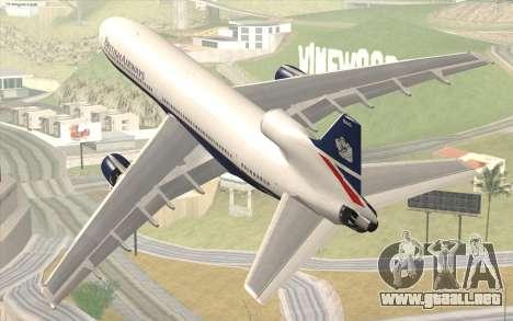 Lookheed L-1011 British Airways para GTA San Andreas left