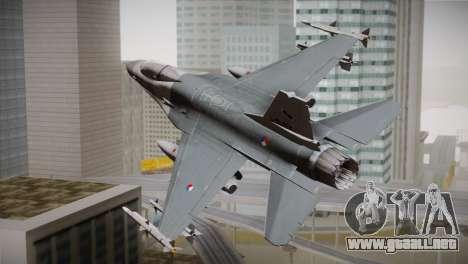 F-16 Fighting Falcon RNLAF para GTA San Andreas left