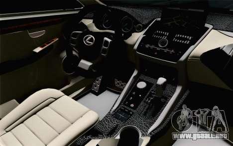 Lexus NX 200T v5 para la visión correcta GTA San Andreas