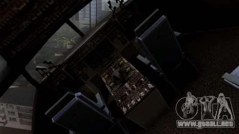 C-17A Globemaster III para GTA San Andreas vista hacia atrás
