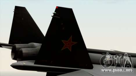 MIG 1.44 China Air Force para la visión correcta GTA San Andreas