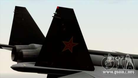 MIG 1.44 China Air Force para la visión correcta GTA San Andreas