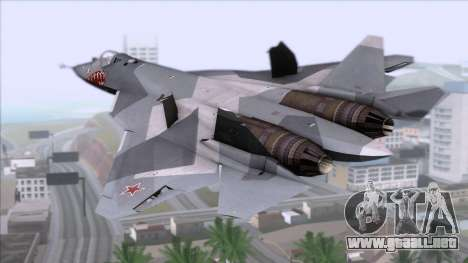 Sukhoi T-50 PAK FA Akula with Trinity para GTA San Andreas left