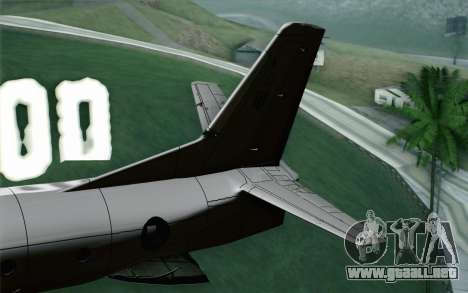 AN-32B Croatian Air Force Opened para GTA San Andreas vista posterior izquierda