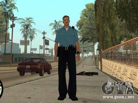 Israeli Police Officer para GTA San Andreas quinta pantalla