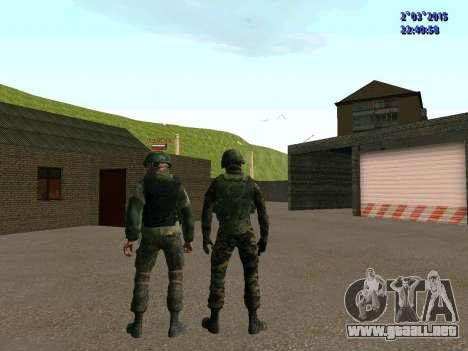 Guerrero batallón de Oriente para GTA San Andreas sexta pantalla