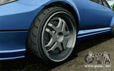 GTA 5 Benefactor Schafter para GTA San Andreas vista posterior izquierda