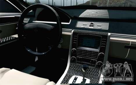 Maybach 57S Coupe Xenatec para GTA San Andreas vista hacia atrás