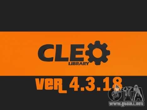 CLEO v4.3.18 UPDATE para GTA San Andreas