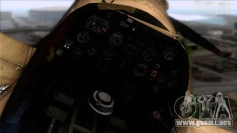 Stanislaw Skalski Supermarine Spitfire MK IXC para la visión correcta GTA San Andreas