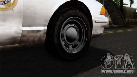 GTA 5 Vapid Stanier Sheriff para GTA San Andreas vista posterior izquierda