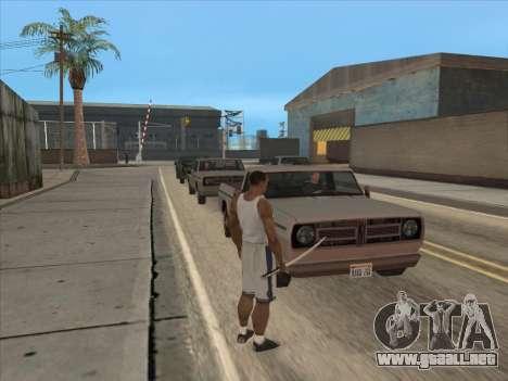A los Rusos en el distrito Comercial para GTA San Andreas tercera pantalla