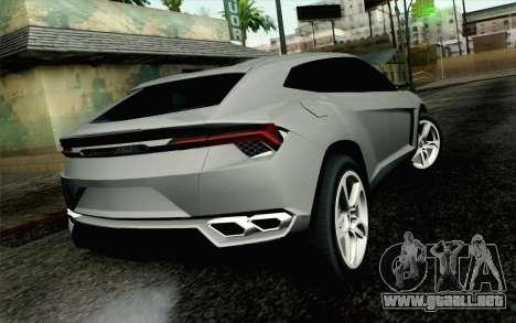 Lamborghini Urus Concept para GTA San Andreas left