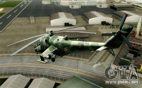 Mi-24D Polish Air Force para GTA San Andreas left