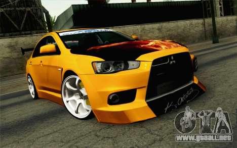 Mitsubishi Lancer Evolution X v2 para GTA San Andreas
