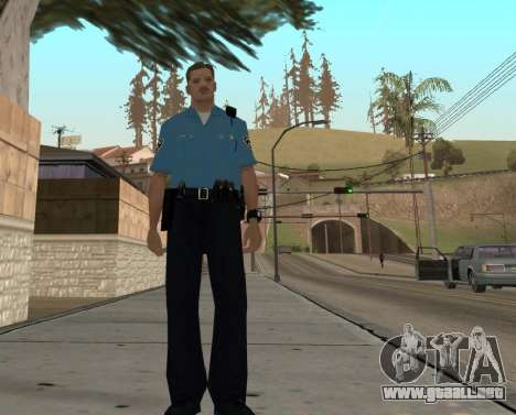 Israeli Police Officer para GTA San Andreas sexta pantalla