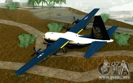 C-130H Hercules Blue Angels para GTA San Andreas left