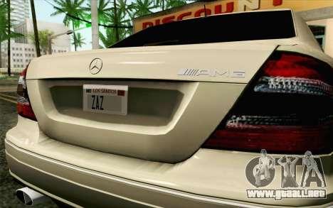 Mercedes-Benz CLK DTM 2004 para GTA San Andreas vista hacia atrás